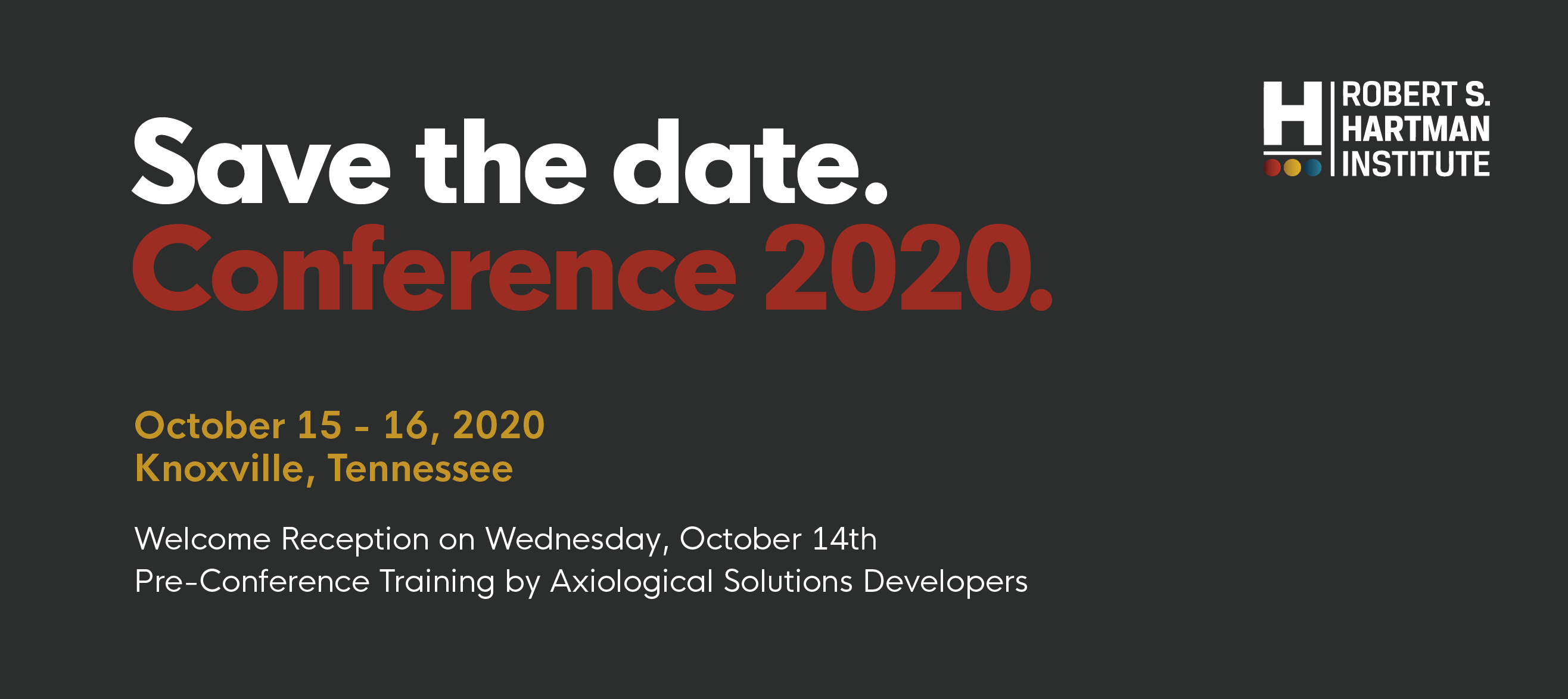 Save the Date Graphic for 44th Annual Conference 2020